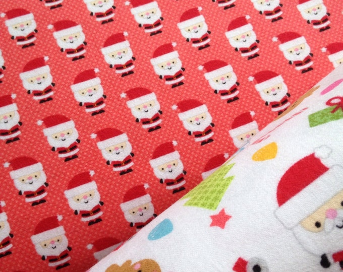 "Riley Blakes ""Santa express"" brushed cotton"