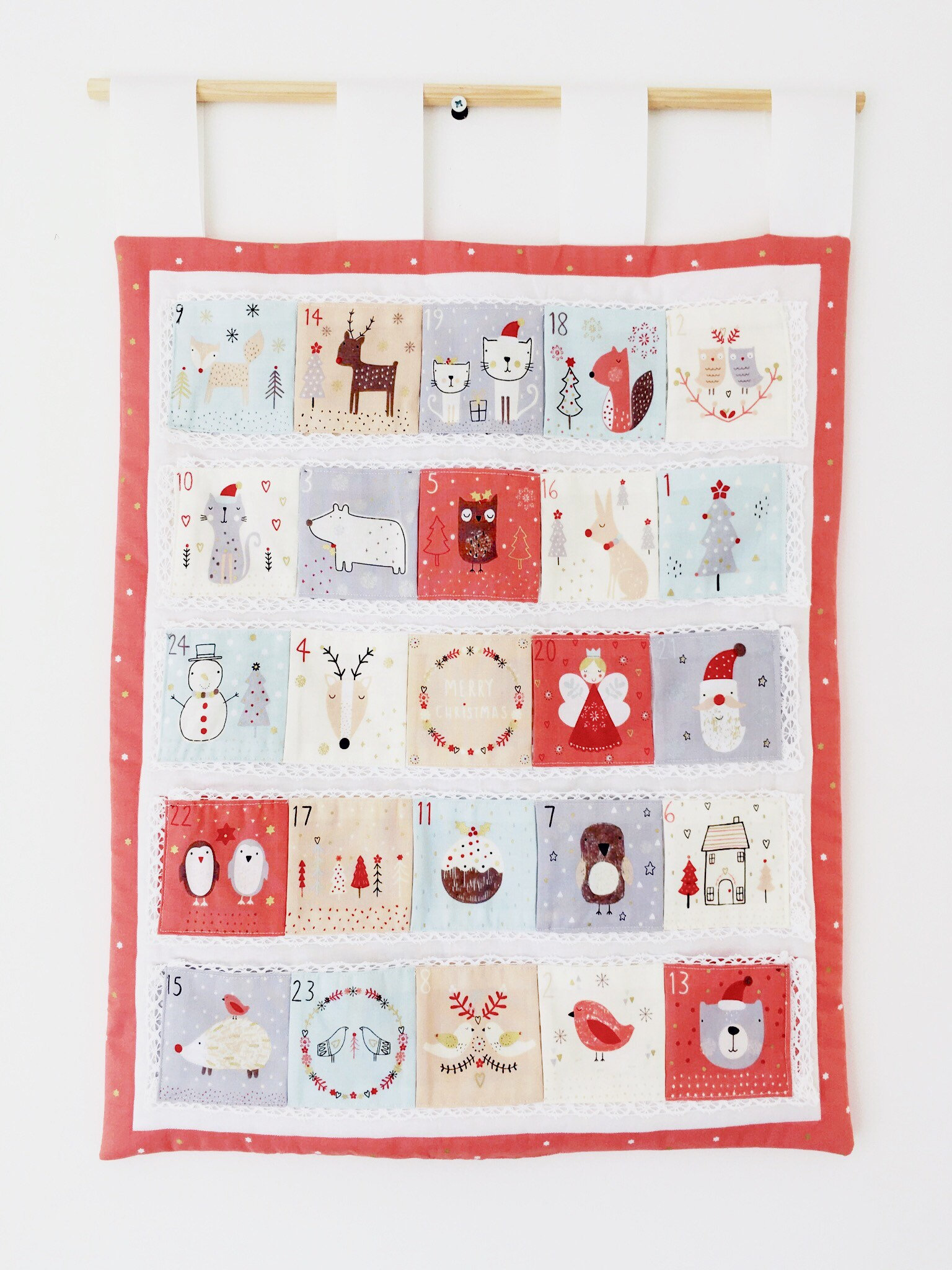 Free Shipping Fabric Advent Calendar Advent Panel Christmas Craft