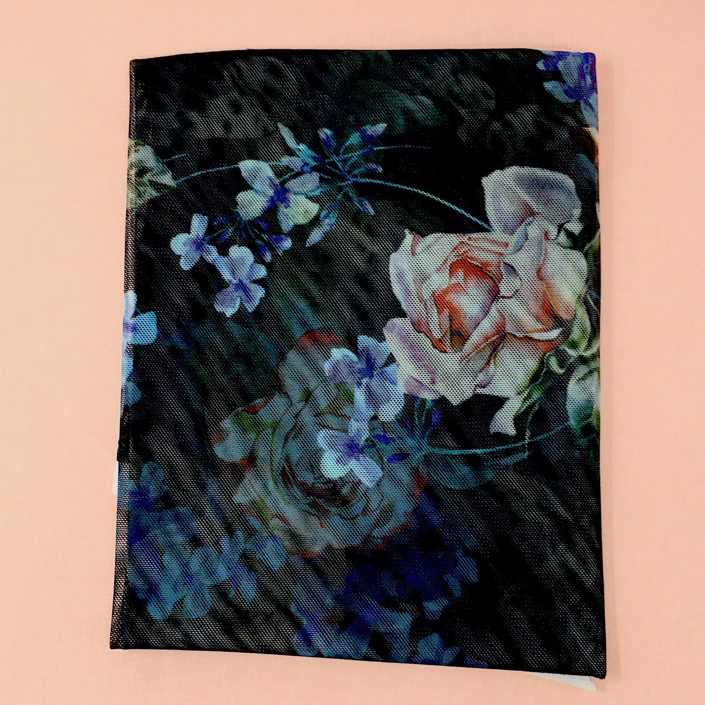 DIY lingerie fabrics - Digital printed sheer stretch mesh ...