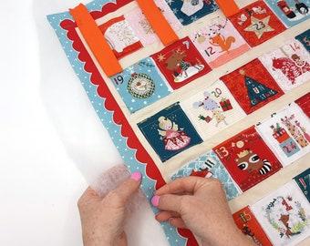 Make your own advent calendar kit,Fabric Advent Calendar Kit,  Reusable Christmas Advent calendar kit