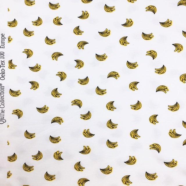 Banana print jersey knit - Banana fabric - tropical fabric