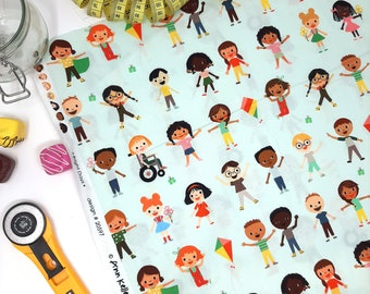 Ann Kelle Bright Days Cotton fabric  -  Diversity Inclusive printed fabric