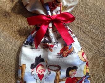SALE, Fabric Gift bag, present bag, gift wrap, Reusable bag, unique bag, gift pouch