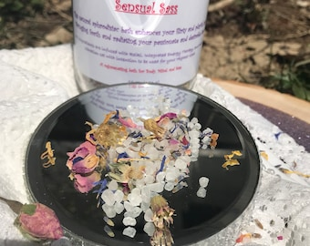Reiki infused organic essential oil and dried flower Sensual Love Bath.