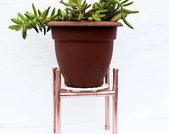 Handmade Copper Plant Stand (Windowsill)