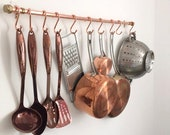 Handmade Copper and Brass Pot And Pan Rack/Rail