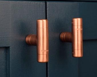 kitchen door pulls modern modern copper knob contemporary drawer pull handle cabinet knob kitchen knob door pull chunky knob handle etsy