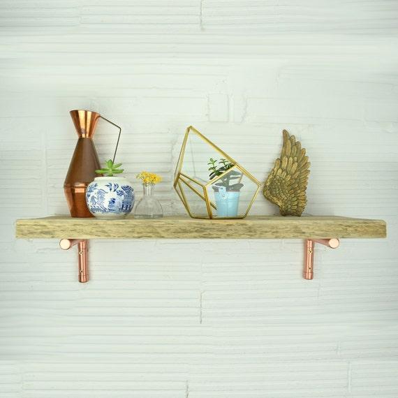 Rustikale Gerüst Regal mit Kupfer Klammern-Regale-Gerüst   Etsy