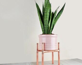Copper Plant Stand (Windowsill)