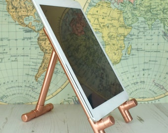 Handmade Copper Ipad, Book Stand And Holder