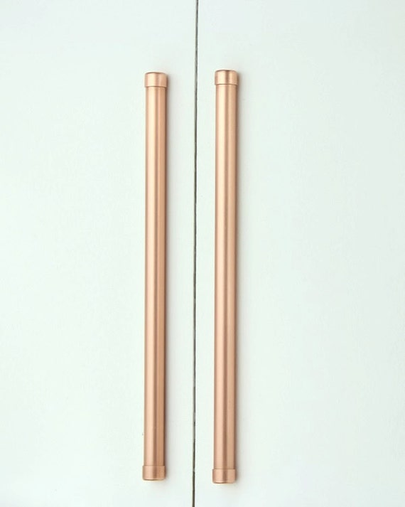 Modern Copper Bar Pullhandle Large Sizes Cabinet Hardware Etsy