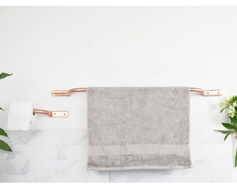 Curved Copper Bathroom Set