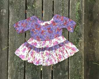 318b0840b69 Vintage - Size 2 Dress Flowers Floral Patchwork Boho Baby Toddler Kids  Clothes Girls