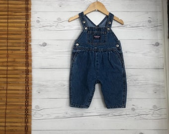 23453337523 Vintage 3-6 Months Overalls Pants Bibs Osh Kosh Baby Toddler Kids Clothes  Girls 90s