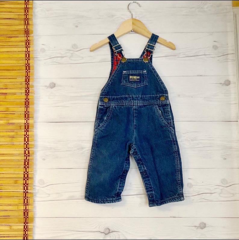 26d5a0d69 Vintage 12 Months Overalls Pants Jean Denim Flannel Lined | Etsy