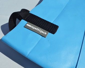Reclaimed Upcycled Bouncy Castle Tote Bag Blue