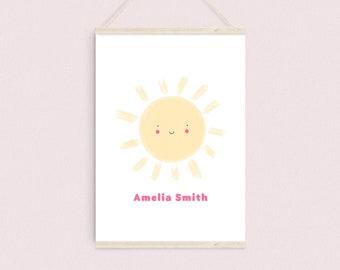 Personalised Sun Baby Name Print