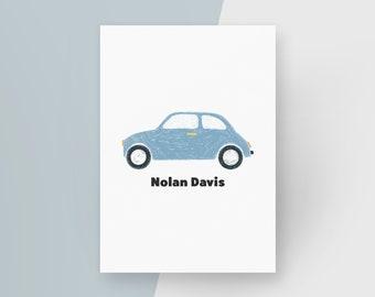 Personalised Car Transport Nursery Art