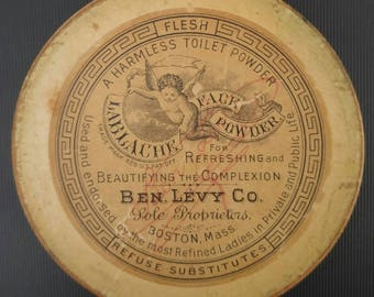 Vintage late 1800's-early 1900's Lablache Face Powder by Ben Levy Co. Boston, MA