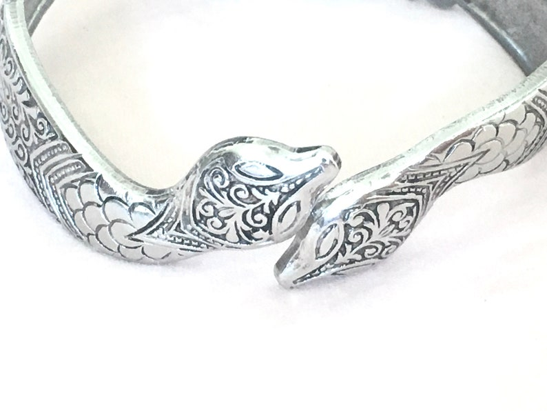 Vintage Art Deco Snake Clamper Bracelet by Peckham Seamless Mfg Co.