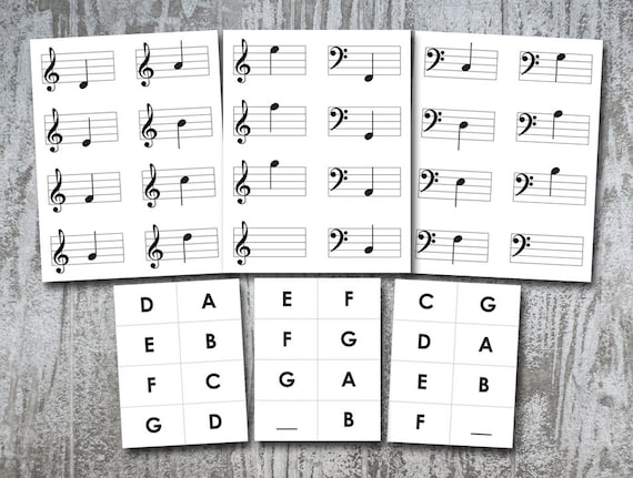 photo regarding Musical Note Flashcards Printable identified as Simple New music Flashcards ~ Instruction Device for Mastering Very simple Notes Treble B G F Clef , Printable at Property, 20 Playing cards Electronic Down load PDF Report