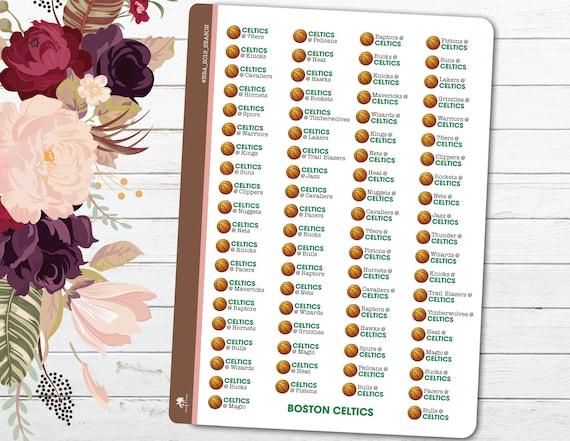 Celtics Schedule 2020.2019 2020 Nba Basketball Schedule Choose A Team Season Games Planner Stickers Sports Nba Season Decorative Planning Printed