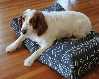 Faux Mud cloth Dog Bed Cover, Pet Bed Cover, Dog Beds, Machine Washable Handmade, Dog Bed Cover, Pet Bedding, Boho dog bed, Ethnic dog bed