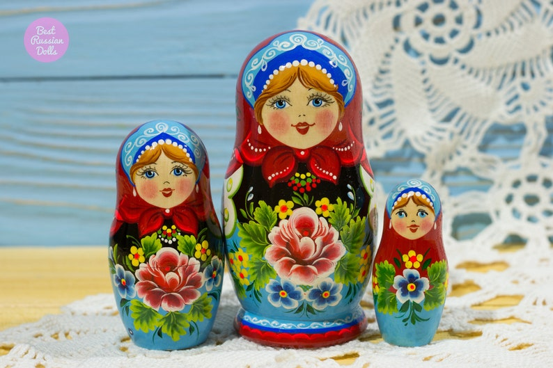 Miniature Matryoshka Gift Idea For Woman Russian Nesting Doll Gift For Friend Cute Gift For Her Wooden Hand Painted Babushka Art Dolls