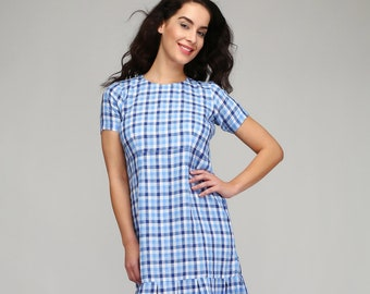 20c114149f Trendy check dress with box pleats