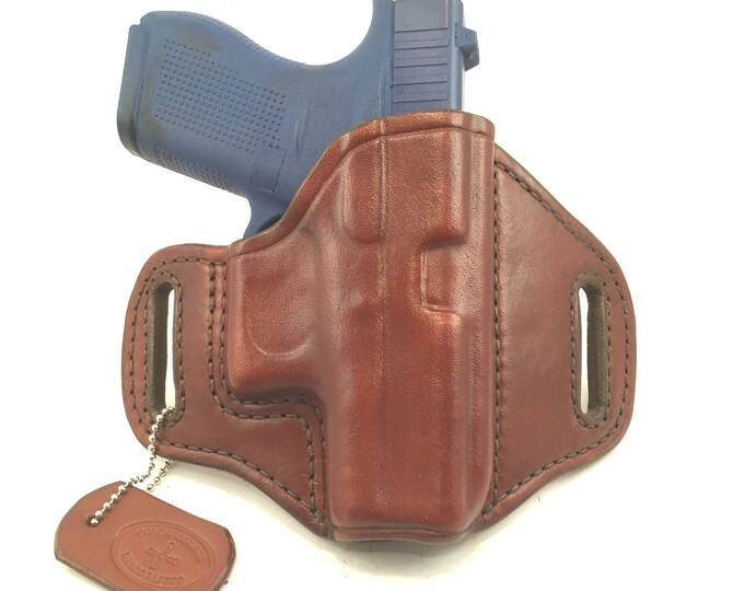 Glock 42 (zero cant) - Handcrafted Leather Pistol Holster