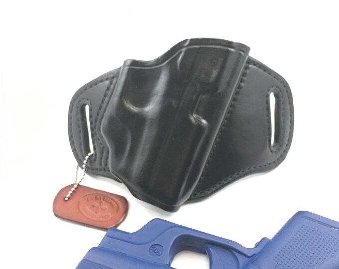 Glock 42 w/ LG-443G Crimson Trace * Ready to Ship * - Handcrafted Leather Pistol Holster
