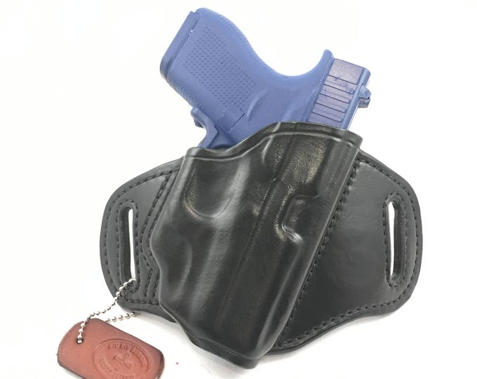 Glock 42 w/ LG-443/443G Crimson Trace - Handcrafted Leather Pistol Holster