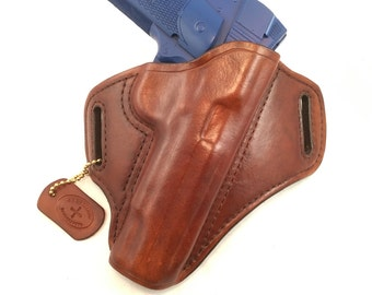 SIG 1911 without rails - Handcrafted Leather Pistol Holster