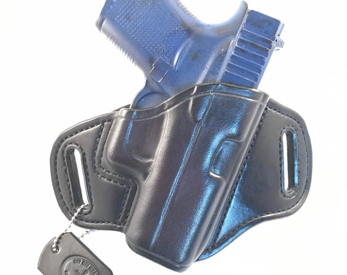 Glock 43 / 43X * Ready to Ship * - Handcrafted Leather Pistol Holster