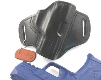 Ruger American 9mm Compact * Ready to Ship * - Handcrafted Leather Pistol Holster