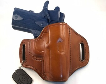 "3"" 1911 (zero cant) * Ready to Ship * - Handcrafted Leather Pistol Holster"
