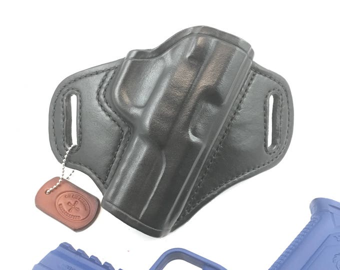 Ruger American 9mm Duty * Ready to Ship *- Handcrafted Leather Pistol Holster