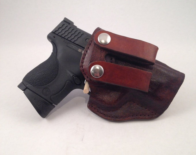 "S & W MP .40/9 Compact 3.6"" barrel IWB - Handcrafted Leather Pistol Holster"