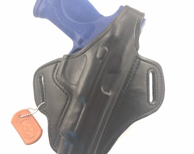 "S & W MP 5"" 2.0 40/9 with retention strap - Handcrafted Leather Pistol Holster"