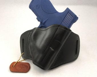 S & W MP Shield 40/9 w/ LG-489LG-489G Crimson Trace - Handcrafted Leather Pistol Holster