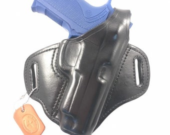 S & W 4006 TSW with retention strap - Handcrafted Leather Pistol Holster