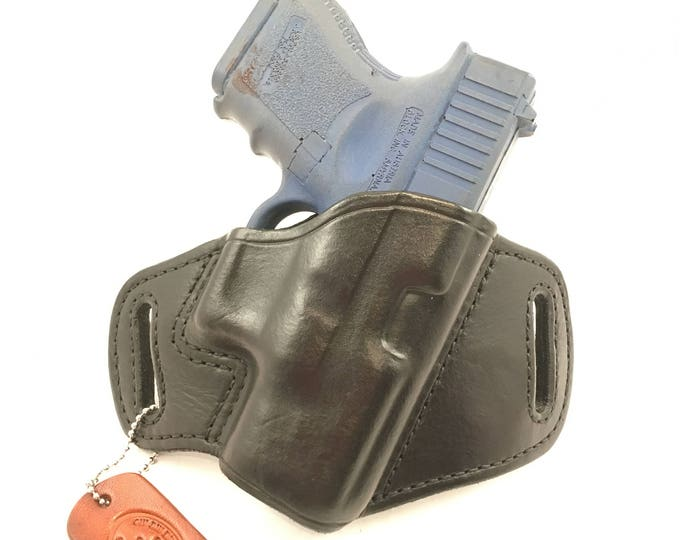 Glock 26 / 27 / 33 / 39 - Handcrafted Leather Pistol Holster