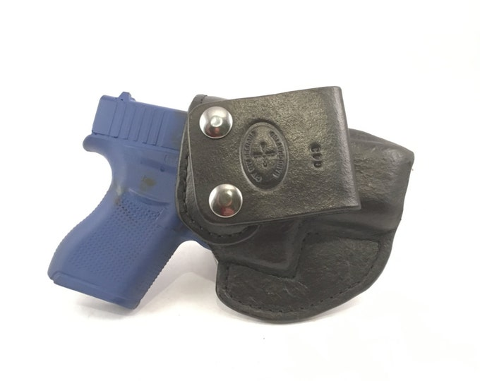 Glock 43 / 43X IWB - Handcrafted Leather Pistol Holster