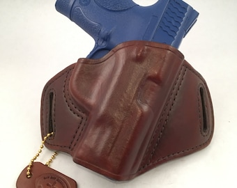 """S & W MP 40/9 Compact 3.6"""" barrel - Handcrafted Leather Pistol Holster"""