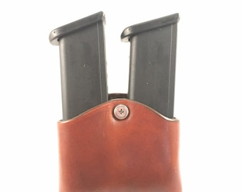 Magazine pouch - Double - Handcrafted leather