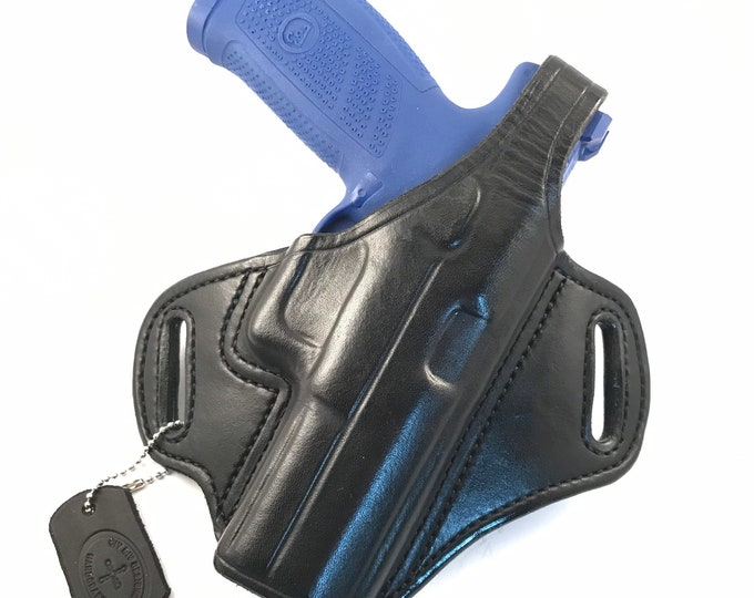 CZ 10 F with retention strap - Handcrafted Leather Pistol Holster