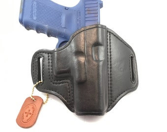 Glock 19 / G23 / G45 (zero cant) - Handcrafted Leather Pistol Holster