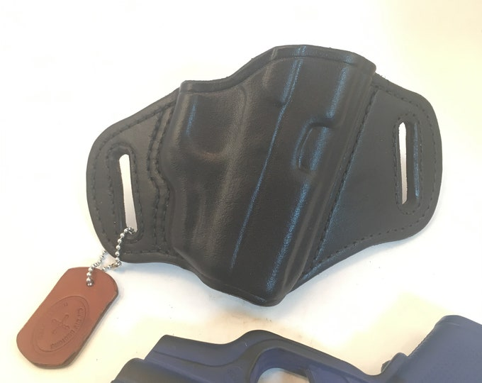 Glock 43 w/ LG-443 Crimson Trace * Ready to Ship *- Handcrafted Leather Pistol Holster