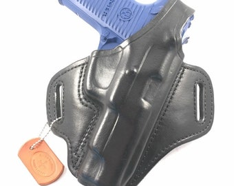 Ruger P89 with retention strap - Handcrafted Leather Pistol Holster