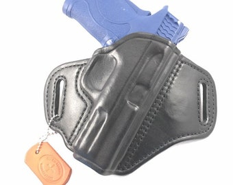 S & W MP Shield EZ .380/9mm - Handcrafted Leather Pistol Holster